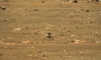 Дрон прислал первое цветное фото Марса с воздуха